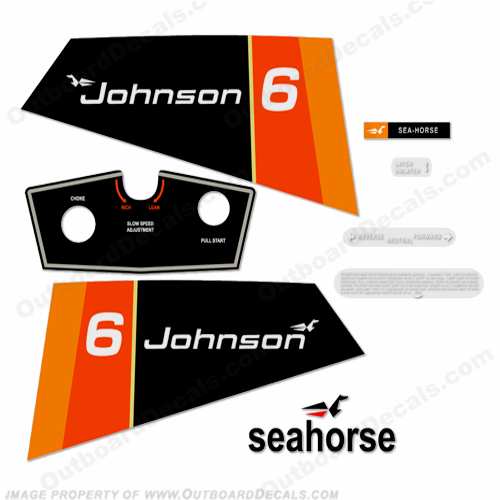 Johnson 1976 6hp Decals
