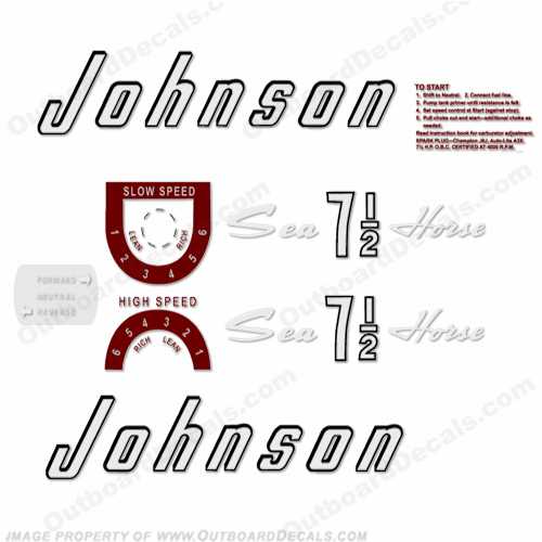 Johnson 1957 7.5hp Decals