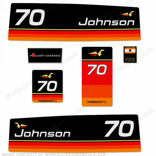 Johnson 1974 70hp Decals