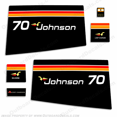 Johnson 1975 70hp Decals