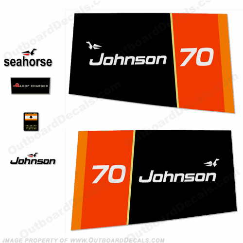 Johnson 1976 70hp Decals