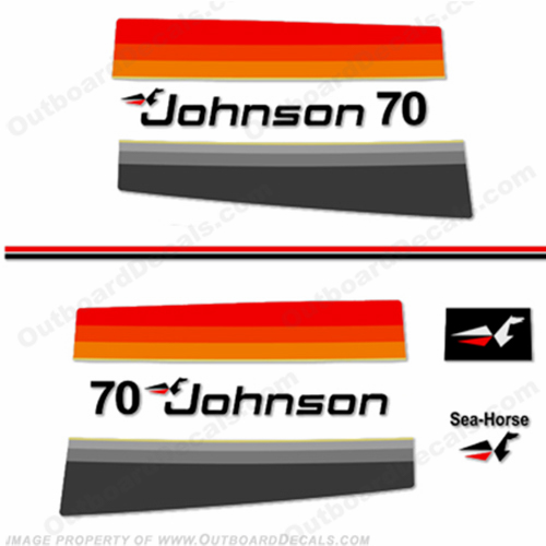 Johnson 1977 70hp Decals