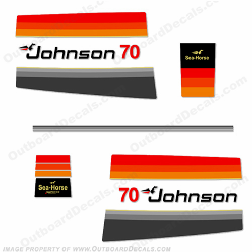 Johnson 1978 70hp Decals