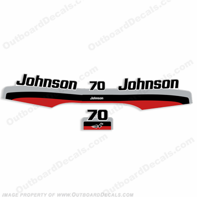 Johnson 70hp Decal Kit - 1997-1998