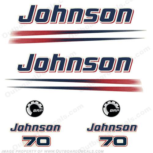 Johnson 70hp BRP Decals