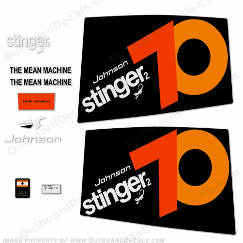 Johnson 1974 70hp - Stinger Decals