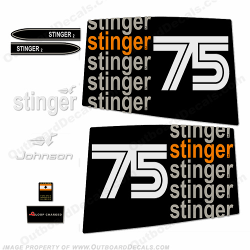 Johnson 1975 75hp - Stinger Decals