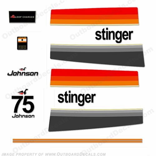 Johnson 1976 75hp - Stinger Decals