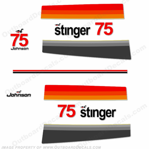 Johnson 1977 75hp Stinger Decals