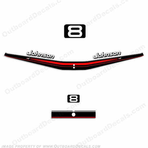 Johnson 1995 8hp Decal Kit