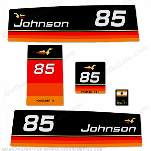 Johnson 1974 85hp Decals