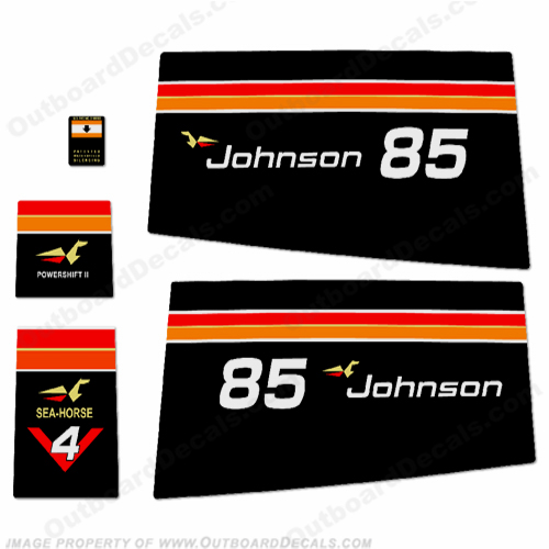Johnson 1975 85hp Decals