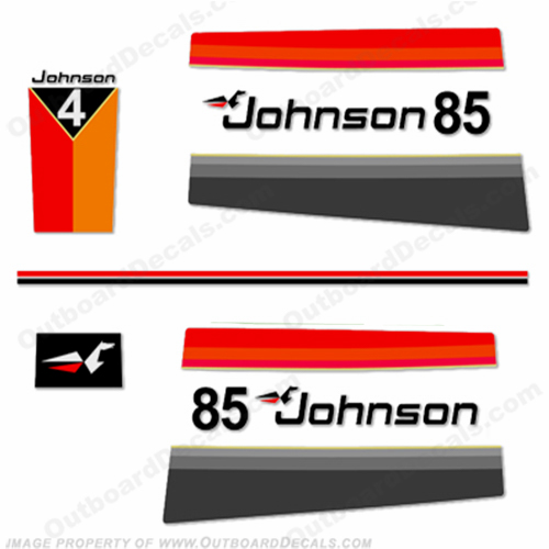 Johnson 1977 85hp Decals