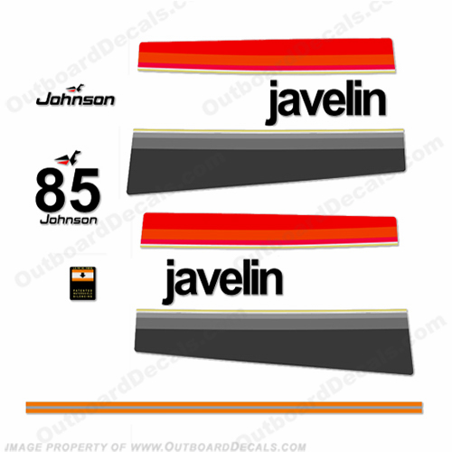 Johnson 1976 85hp - Javelin Decals
