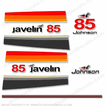 Johnson 1977 85hp Javelin Decals