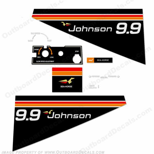 Johnson 1975 9.9hp Decals