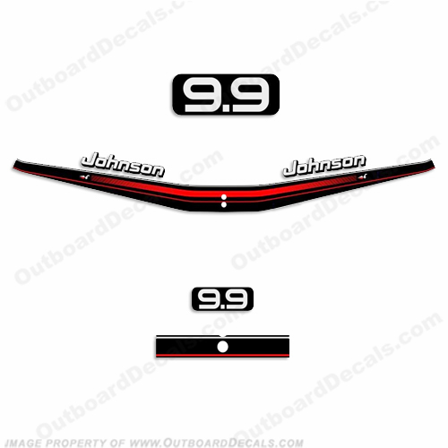 Johnson 9.9hp Decal Kit 1995 - 1996