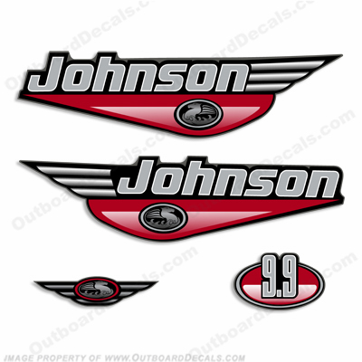 Johnson 9.9hp Decals (Red) 2000
