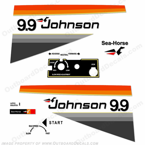 Johnson 1977 9.9hp Electric Decals