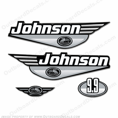 Johnson 9.9hp Decals (Silver) 2000