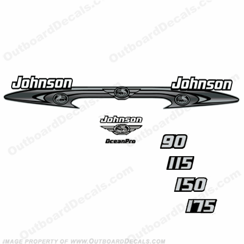 Johnson 90-175 OceanPro Decals - Wrap Around ocean, pro, ocean pro, ocean-pro, 90, 115, 150, 175