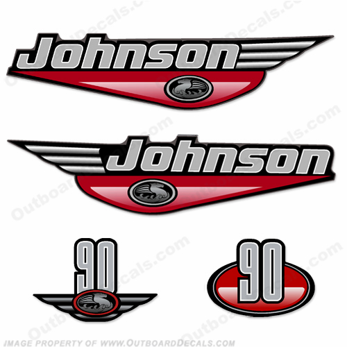 Johnson 90hp Decals (Red) - 2000