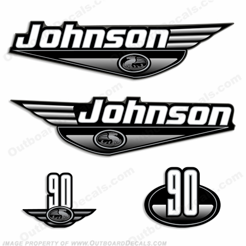 Johnson 90hp Decals (Black) - 2000