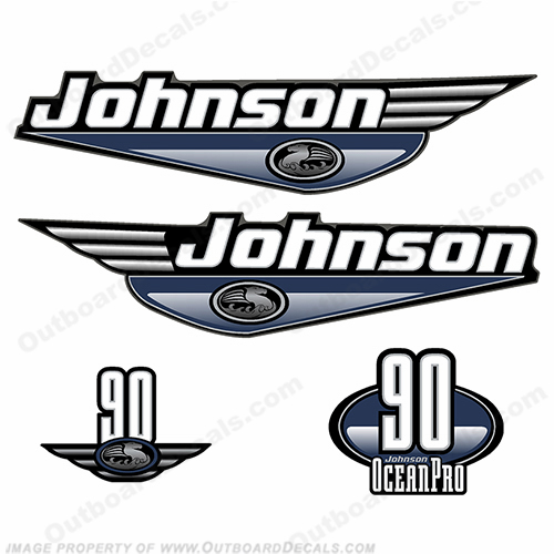 Johnson 90hp OceanPro Decals - Dark Blue ocean, pro, ocean pro, ocean-pro