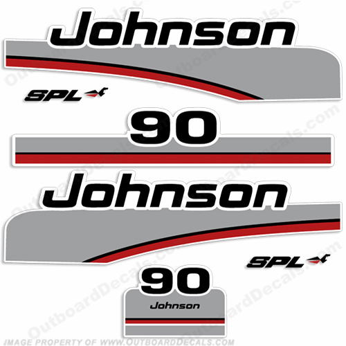 Johnson 90hp SPL Decals