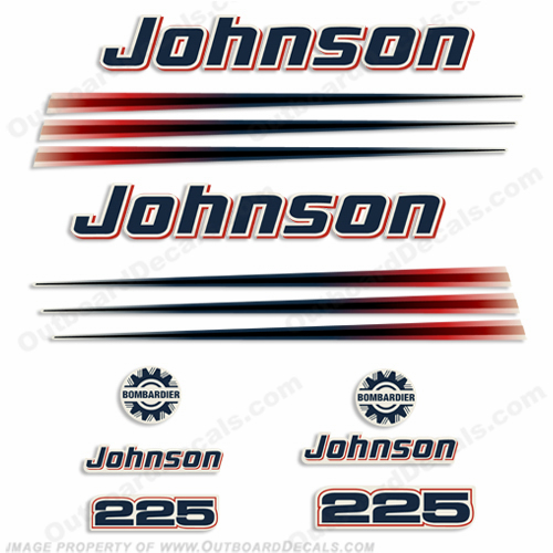 Johnson 225hp Decals 2002 - 2006