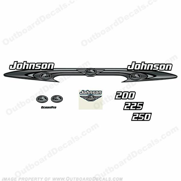 Johnson 200-250 OceanPro Decals - Wrap Around