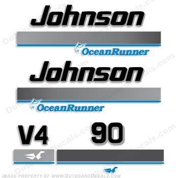 Johnson 90hp OceanRunner Decals ocean runner, ocean-runner