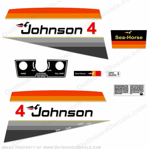 Johnson 1978 4hp Decals