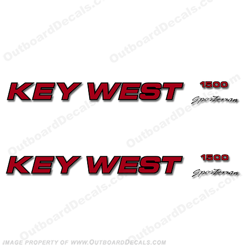 Key West Sportsman 1500 Boat Decals