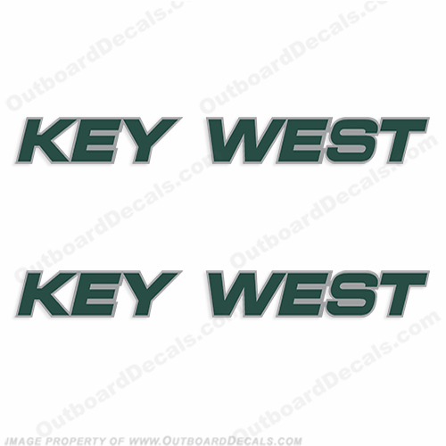 Key West 1520 Boat Logo Decals (Set of 2)