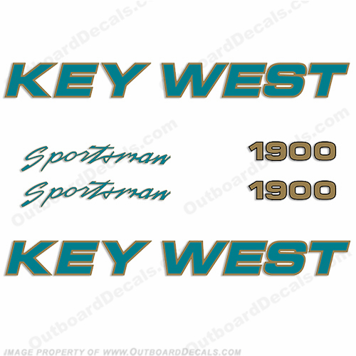 Key West Sportsman 1900 Boat Decals