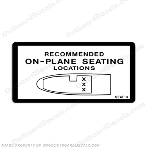 Recommended On Plane Seating Locations Decal - 3 Seat