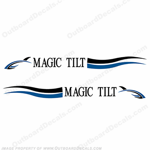 magic tilt trailer decals  set of 2