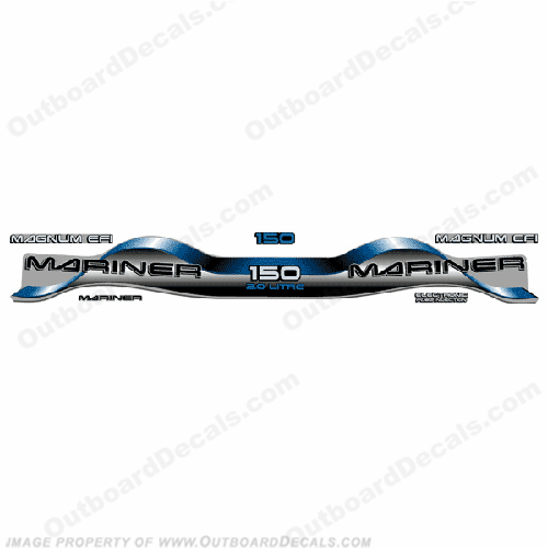Mariner 150hp 2.0 Decal Kit - Blue