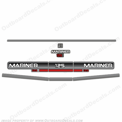 Mariner 1994 125hp Decal Kit