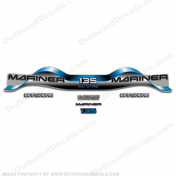 Mariner 135hp 2.0 Decal Kit - Blue