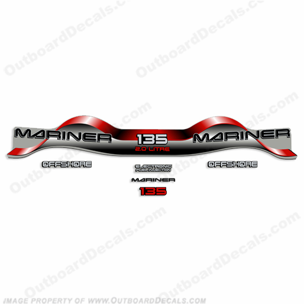 Mariner 135hp 2.0 Decal Kit - Red