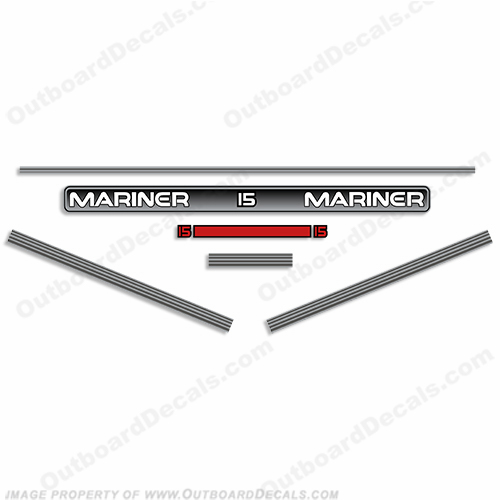 Mariner 1996 15hp Decal Kit