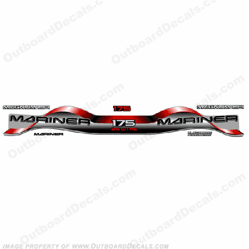 Mariner 175hp 2.5 Decal Kit - Red