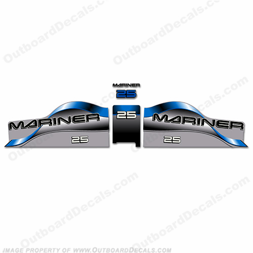 Mariner 25 Decal Kit - Blue