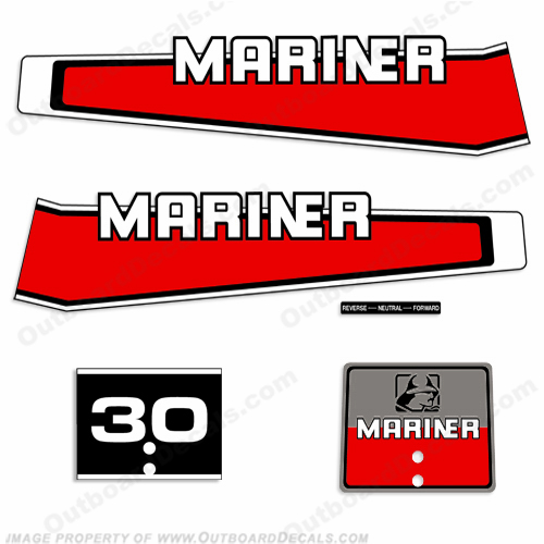 Mariner 1977-1989 30hp Decal Kit