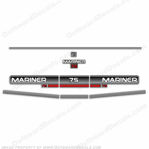 Mariner 1994 75hp Decal Kit