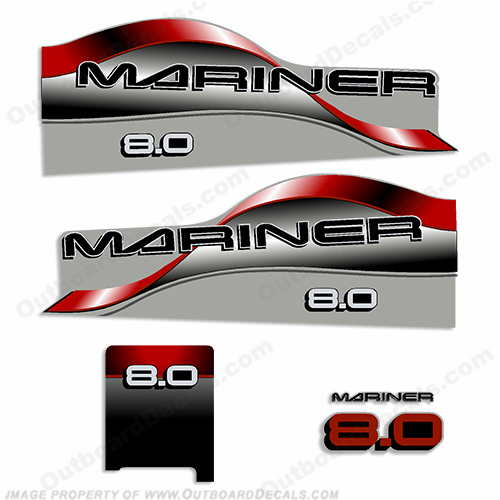 Mariner 8.0hp Decal Kit - 1998