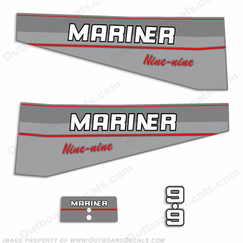 Mariner 9.9hp Decal Kit - 1997
