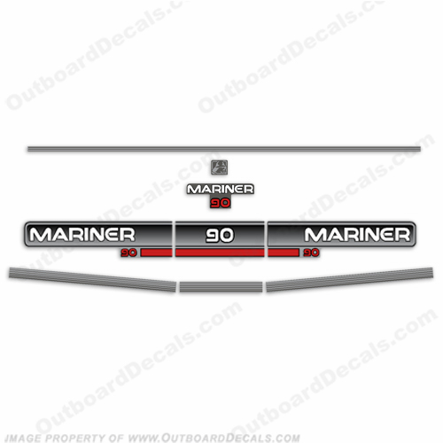 Mariner 1994 90hp Decal Kit